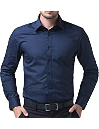 "ZAKOD Full Sleeve Slim Fit Plain Formal Shirts for Men100% Cotton Shirts, Office wear,Colour and Size Choose According 6 Colour Available M=38"",L=40"",XL=42"""