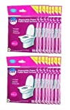 GoHygiene! Travel Essential - Disposable Paper Toilet Seat Covers - 18 PACKS (180pcs) + 2 FREE PACKS!