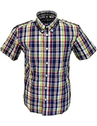Warrior Craig Multi Checked Retro Button Down Short Sleeve Shirt