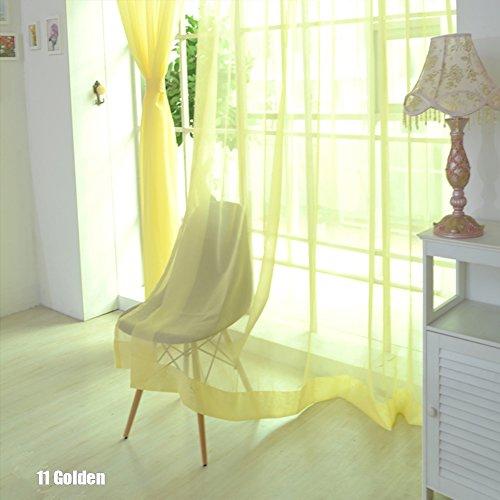 Rungao, color floral, visillo de gasa para decoración del hogar, puertas, ventanas, paño de cortina simple, cenefa, alzapaños.