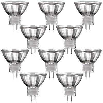 10er Set MR11 Halogen Strahler mit GU4 Sockel von parlat (warm-weiß, 12 Volt AC, 20 Watt, Lampe, Leuchtmittel, Haushaltspack, 12V, 20W) von parlat - Lampenhans.de
