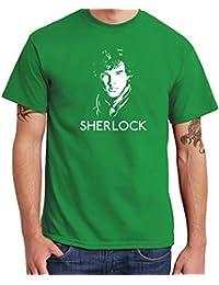 -- Sherlock - Face -- Boys Shirt