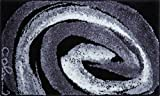 Grund COLANI Exklusiver Designer Badteppich 100% Polyacryl, ultra soft, rutschfest, ÖKO-TEX-zertifiziert, 5 Jahre Garantie, Colani 42, Badematte 70x120 cm, grau