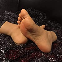 YH-feet Foot Fetishes foot toy-Silicone Mannequin Foot Foot fetish- 36A   girl foot model - Visible blood vessels newly developed 2019 ankle hobby - foot culture art model simulation foot.