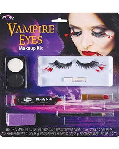 Horror-Shop Vampir Augen Schmink-Set für Halloween, Gothic Party & Fasching