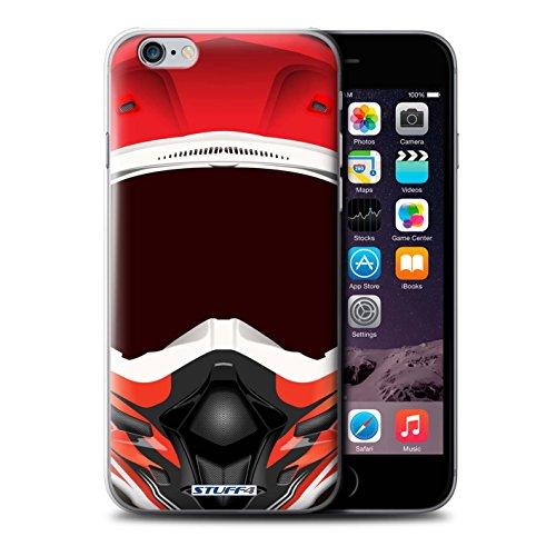 Coque de Stuff4 / Coque pour Apple iPhone 7 / Motocross/Rouge Design / Casque Moto Collection Motocross/Rouge