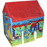 Samaira Novelty Kid's Tent House With Led Disco Light Inside And Wheels King Size (Code: Lth)