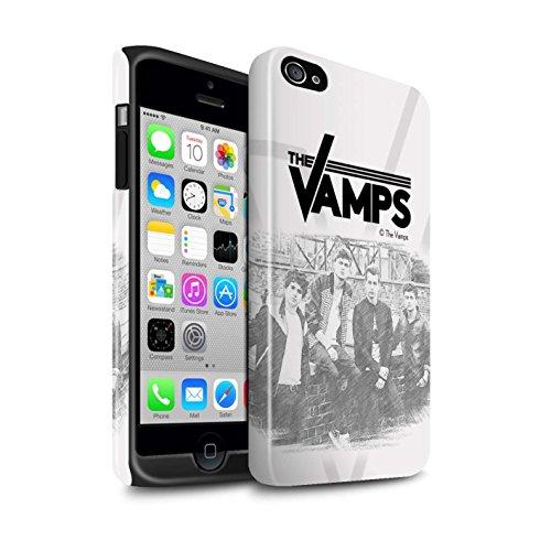 Offiziell The Vamps Hülle / Glanz Harten Stoßfest Case für Apple iPhone 4/4S / Pack 6pcs Muster / The Vamps Fotoshoot Kollektion Skizzieren