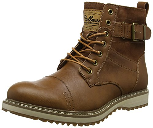 Mens Real Leather Ankle Boots Combat Zip Up Formal Casual Smart Lace Shoes (UK9, Tan)