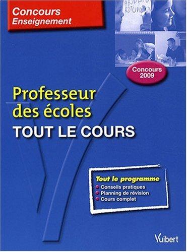 Tout le cours : Professeur des coles concours 2009