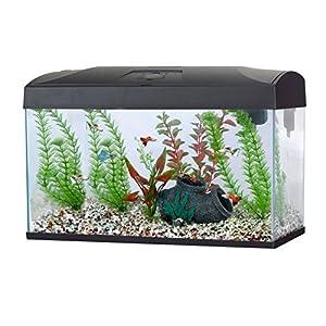 Fish 'R' Fun Rectangular Aquarium, 54 Litre Capacity, Black