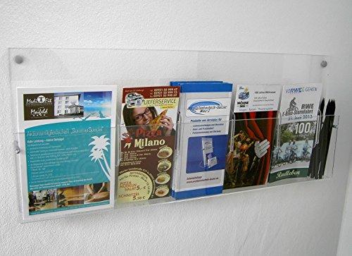 Prospektwandhalter und Flyerwandhalter mit freier Facheinteilung Wand Halterung