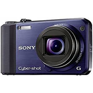Sony DSC-HX7VL Digitalkamera (16 Megapixel, 10-fach opt. Zoom, Full HD Videoaufnahme, GPS, 7,6 cm (3 Zoll) Display, bildstabilisiert) blau