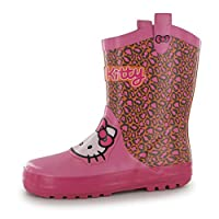Hello Kitty Wellington Boots Girls Pink Wellies Welly Gum Boot (UK C8) (EU25.5)