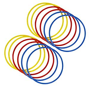 Roxan Flat Ring 18 inch Set of 10 Piece | Round Flat Ring Multi Color | Track and Field Flat Ring | Indoor and Outdoor flst Ring for Unisex Adults