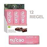 nucao Veganer Bio Superfood Riegel – Wilde Beere – Nährstoffreiche Vegane Schokolade aus Hanfsamen & Roh-Kakao, 480 g