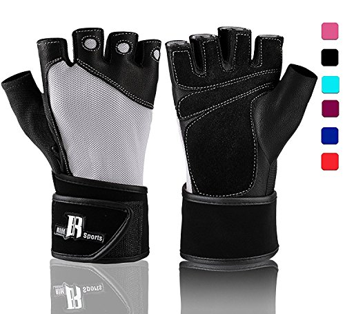 Weightlifting Gloves With Wrist Support - Workout Gloves With Wrist Padding...