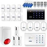 KERUI - 8218G Kit Alarme de Maison Téléphonique sans Fil GSM PSTN/RTC Appel Sirène...