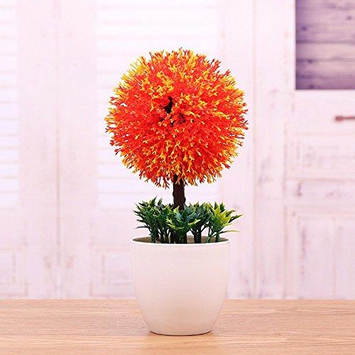 GBHNJ Artificial Flower GBHNJ Faux Fleurs Cadeau Table Basse Gala Simulation Plantes En Pot Decoration Plastique Plantes Rouge Boule