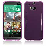 TBOC® Lila Gel TPU Hülle für HTC One M8 Ultradünn