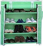 Ebee Green Metal 4 Shelves Shoe Rack