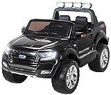 Actionbikes Motors Kinder Elektroauto Ford Ranger Modell 2018 Allrad 4x4 / 2x4 Lizenziert SUV 2 Personen 4 x 12 V 45 Watt (Total 180 Watt) (Schwarz)