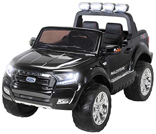 Actionbikes Motors Kinder Elektroauto Ford Ranger - Allrad 4x4 - Touchscreen - 2 Sitzer - 4 x 45 Watt Motor- 2,4 Ghz Rc Fernbedienung - Elektro Auto für Kinder ab 3 Jahre (Allrad Schwarz)