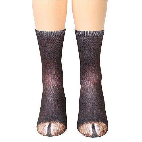 Socken Damen Herren Drucken Socken Tiertatzen Socken Lang Socken Lustige Socken By EUZeo (G-Esel)