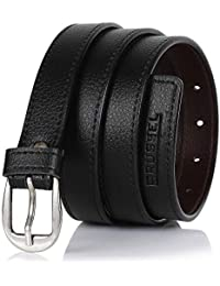 BRUSSEL : PU Leather Belt for Girl and Ladies Free Size (Black, upto 40 Size)… …