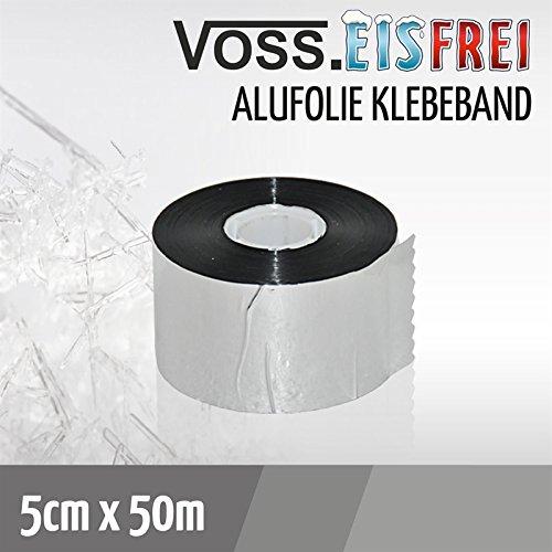 50m Alu-Klebeband für Frostschutz Heizkabel von VOSS.eisfrei und zur Montage der Dachrinnenheizung.
