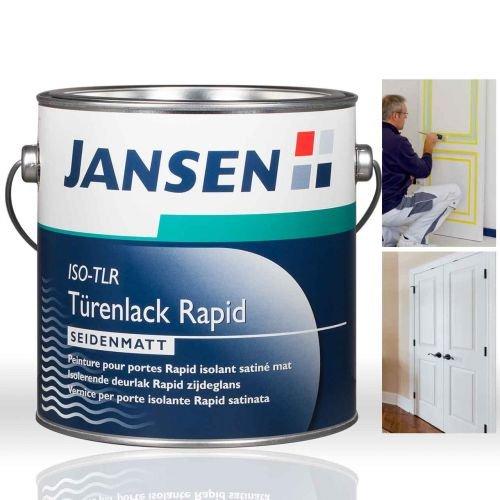 fenster und tuerenlack Jansen Türenlack ISO-TLR Rapid weiß 2, 5 Liter seidenmatt