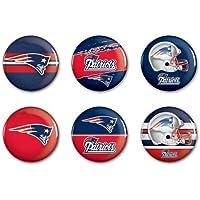 NFL Button-Set 6er Pack New England Patriots