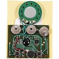 Zerone 30s Música Grabable Sonido Módulo de Grabación de Voz Chip de Dispositivo 0.5 W con Botón Batería para Tarjeta de Felicitación DIY Tarjetas de Audio Regalos(Photosensitive Control)