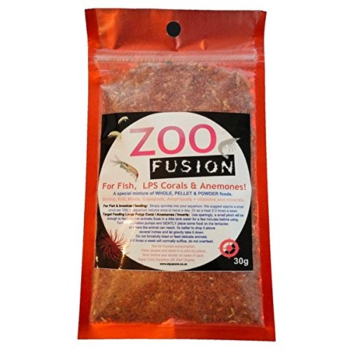 Zoo Fusion-Marine Zooplankton Mix-Powder & Pellet Coral Food für LPS Korallen, Anemonen, Fisch und im Meerwasseraquarium. (Marinos Corales)