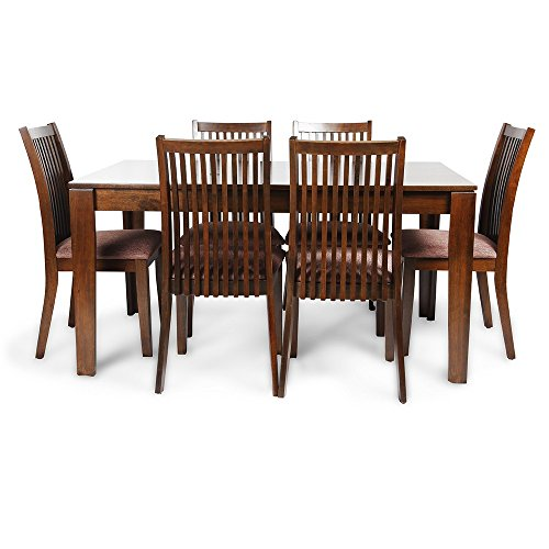 HomeTown Metro Six Seater Dining Table Set (Esspresso)