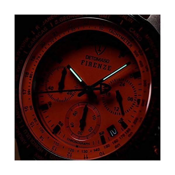 DETOMASO Firenze Reloj Caballero Cronógrafo Analógico Cuarzo Gris Correa