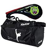 BAY® SET Angebot 2 Teile : ALIEN Doppelmitt und Sporttasche Kickboxen Thaiboxen KWON Kick-Thaiboxen small für Kinder - Geschenk Geschenkidee