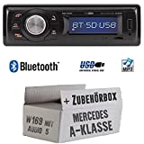 Mercedes A-Klasse W169 Audio 5 - Autoradio Radio Caliber RMD020BT - Bluetooth | MP3 | USB | Einbauzubehör - Einbauset