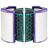 SUNERLORY 4 Pezzi/Set Set di filtri, Filtro a Carbone Attivo + Filtro HEPA, Accessori per purificatore d'Aria riutilizzabili, Filtro di Facile Installazione per Dyson TP04 TP05 HP04 HP05 DP04