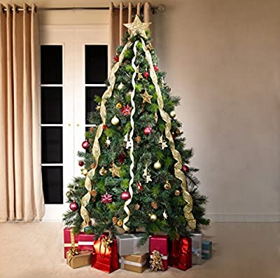 Green Bushy Canadian Pine Luxury Artificial Christmas Tree | 6.5 ft Tall