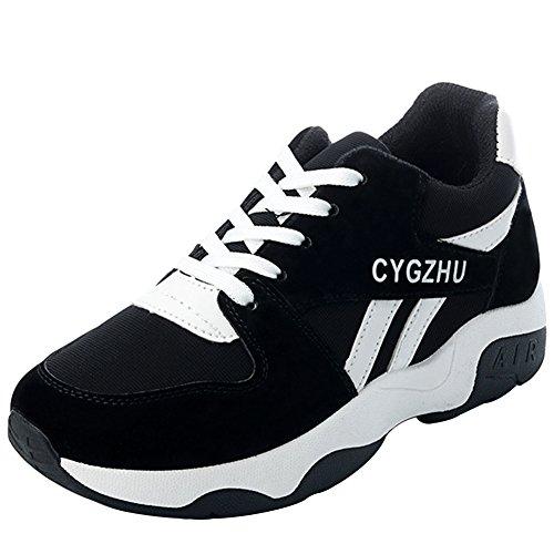 wealsex Basket Suédé Semelle Epais Chaussure Sport Outdoor Running Fitness Course Gym Femme 35-40