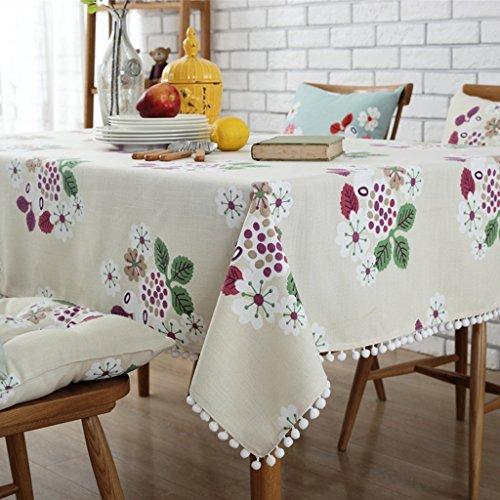 Coton et lin Nappes Drapeau de table Serviette en tissu de couverture de café Placez le tapis Set de table modèle plante fleurs élégant Distingué ( Color : Purple , Size : 100*160cm )