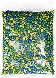 CrackersCompany'Yellow, Green & Blue Peanuts' Gelb, grün und blau ummantelte Erdnüsse in Vollmilchschokolade - Vorratspackung