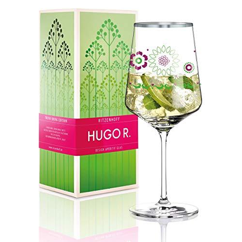 """Ritzenhoff le ofrece ideas actuales para deliciosas bebidas en boga. DiseÃadores y artistas de renombre internacional son responsables de la creaciÃn de copas de alta calidad, perfectas para cada bebida respectiva, como por ejemplo la copa """"Hugo r."""",..."""