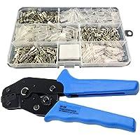 150pcs 2.8mm 4,8mm 6,3mm sin aislar Tab receptáculo Spade terminales Crimper Alicates Surtido Kit de herramientas