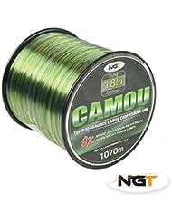 NGT Fil pour pêche à la carpe/pêche au gros Camouflage