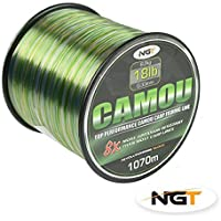 Carp & Coarse Fishing Line Camo Colour available in 8lb 10lb 12lb 15lb Breaking Strain (18lb) by NGT