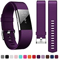 Fitbit Charge 2 Armband,Kutop weiches Silikon Sporty Ersetzerband Silikagel Fitness verstellbares Uhrenarmband für Fitbit Charge 2 Tracker