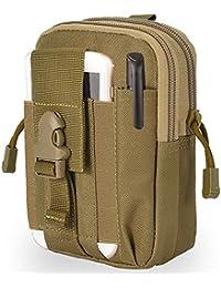 c82ff0989 BeGreat Bolsa de Cintura Táctica de Molle EDC, Bolsa Compacta de Estilo  Militar, con