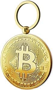 Physische Bitcoin Medaille als Schlüsselanhänger mit Echt-Gold überzogen. Wahres Sammlerstück mit Schlüsselring. EIN Muss für jeden Bitcoin-Fan